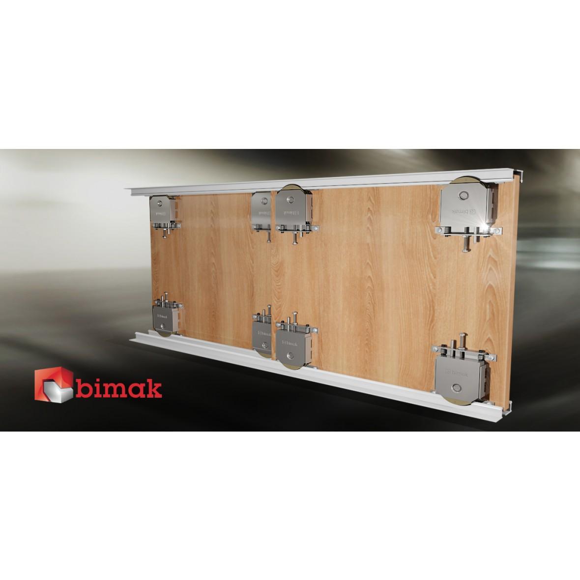 Bimak Mini Pro Sliding Door Kit Colour Silver 2 Doors 2m Tracks