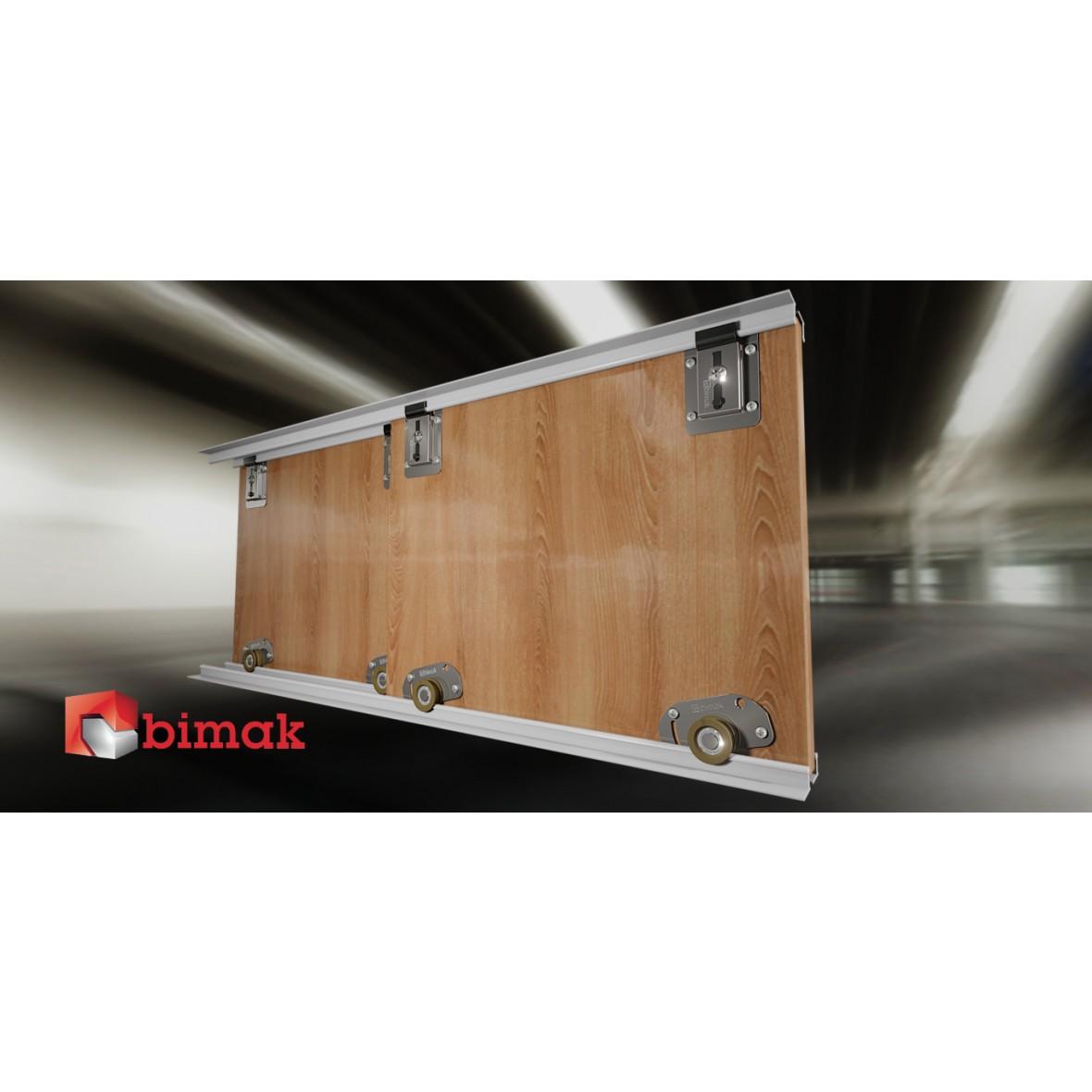 Bimak Mini Sliding Door Kit Colour Silver 2 Doors 15m Tracks