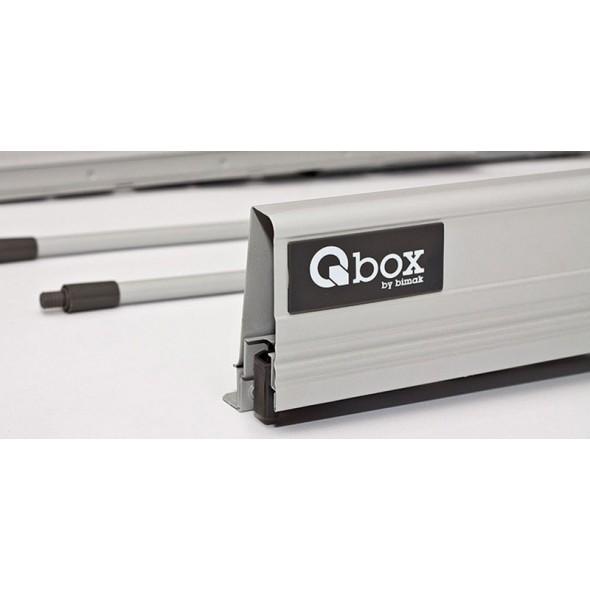 Q-Box 350 high drawer with side rails
