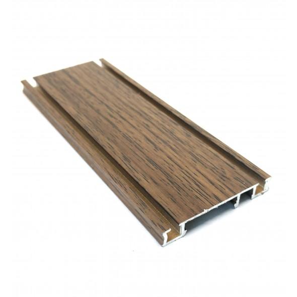 Bottom Track Solar CLIP - Wood - 2m