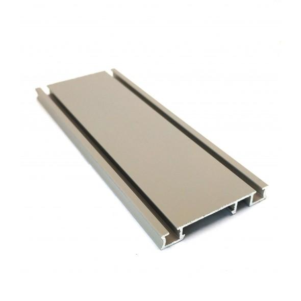 Bottom Track Solar CLIP - Gray Stone - 2m