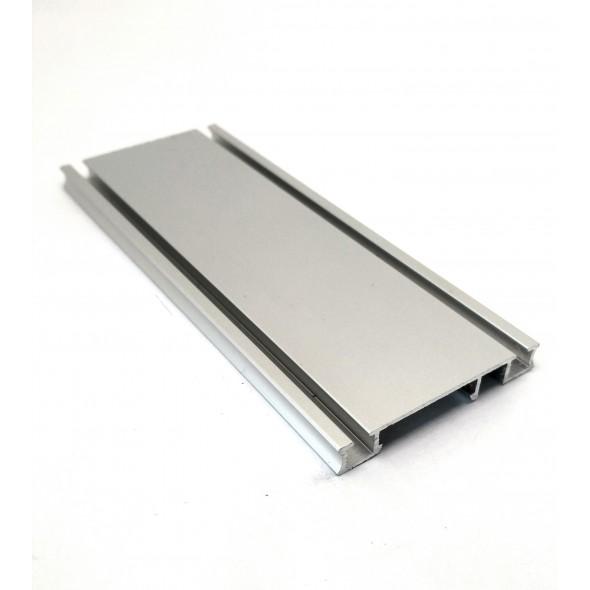Bottom Track Solar CLIP - Silver - 4m