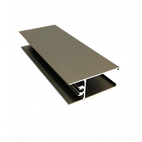 Horizontal profile Nova+ - Black Brushed - 3m