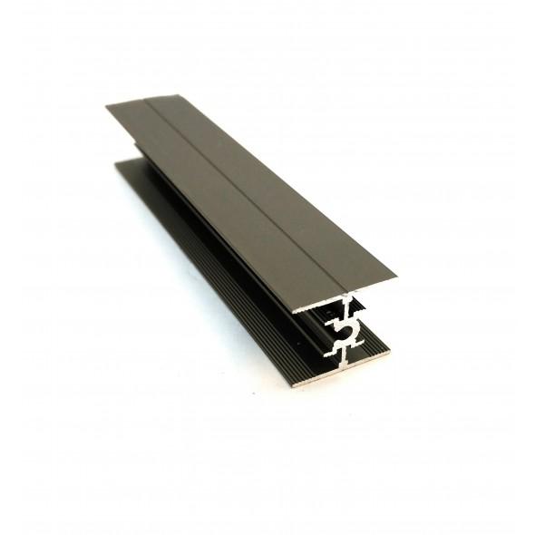H-profile Nova+ -Black  Brushed  - 3m