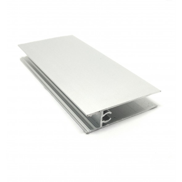 Lower horizontal profile Solar - Silver - 3m