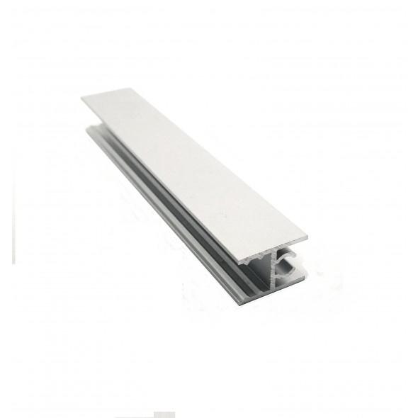 Upper horizontal profile Solar - Gun Metal  - 3m