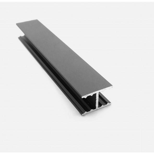 H-profile Solar - Black Brushed - 3m