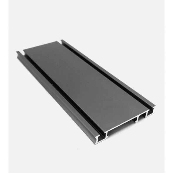 Bottom Track Solar CLIP -Black Brushed- 4m