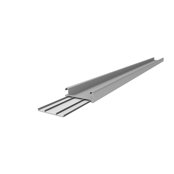 Bottom Track - Silver - 2m
