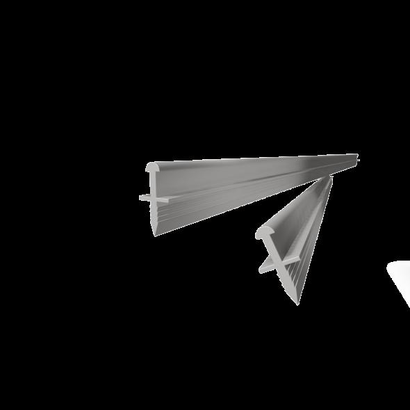 Top/bottom track Mini (Wedge type fitting) -  2m