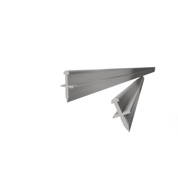 Top/bottom track Mini (Wedge type fitting) -  2.5m