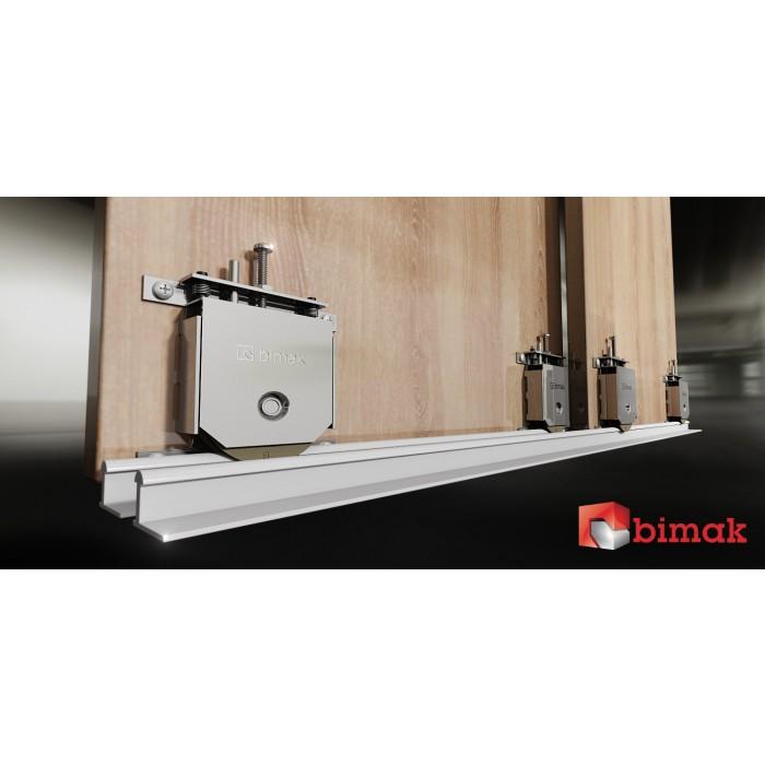 Bimak Mini Pro Sliding Door Kit Colour Silver 3 Doors