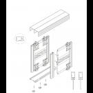 ALUSHAKER  Sliding Door Kits STONE GREY 3 Doors 3M tracks