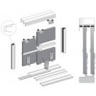 SUPER DUO+ SLIDING DOOR KIT, COLOUR BLACK BRUSHED  (3 DOORS, 3M TRACKS)