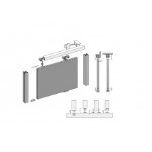 KANON Top Hang Sliding Door Kit 1.5M