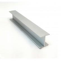 H-profile 18 - silver - 3m