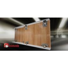 MINI  SLIDING DOOR KIT  COLOUR SILVER   (4 DOORS, 3M TRACKS)